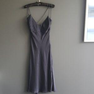 Ralph Lauren black label Navy Silk Dress